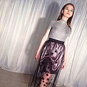 Одежда ручной работы. Ярмарка Мастеров - ручная работа юбка из фатина. Handmade.