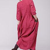 Одежда ручной работы. Ярмарка Мастеров - ручная работа Бохо платье 4-12 Брусничный. Handmade.