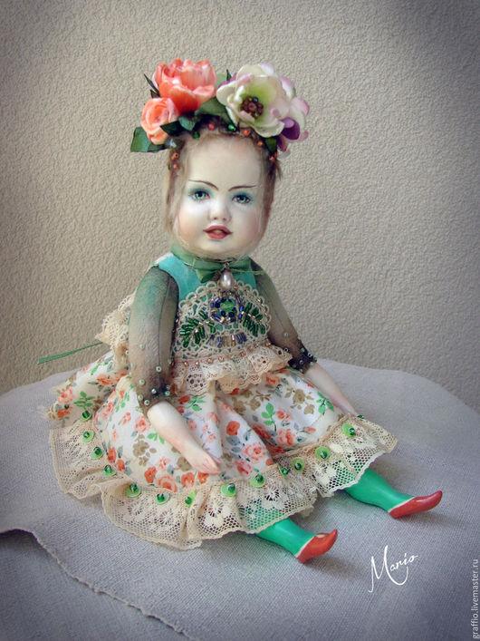 Коллекционные куклы ручной работы. Ярмарка Мастеров - ручная работа. Купить Тедди долл фея Май. Handmade. Бирюзовый, кукла