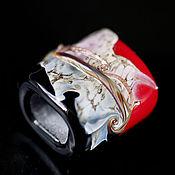 """Материалы для творчества ручной работы. Ярмарка Мастеров - ручная работа Бусина-регализ """"Красное и черное"""". Handmade."""