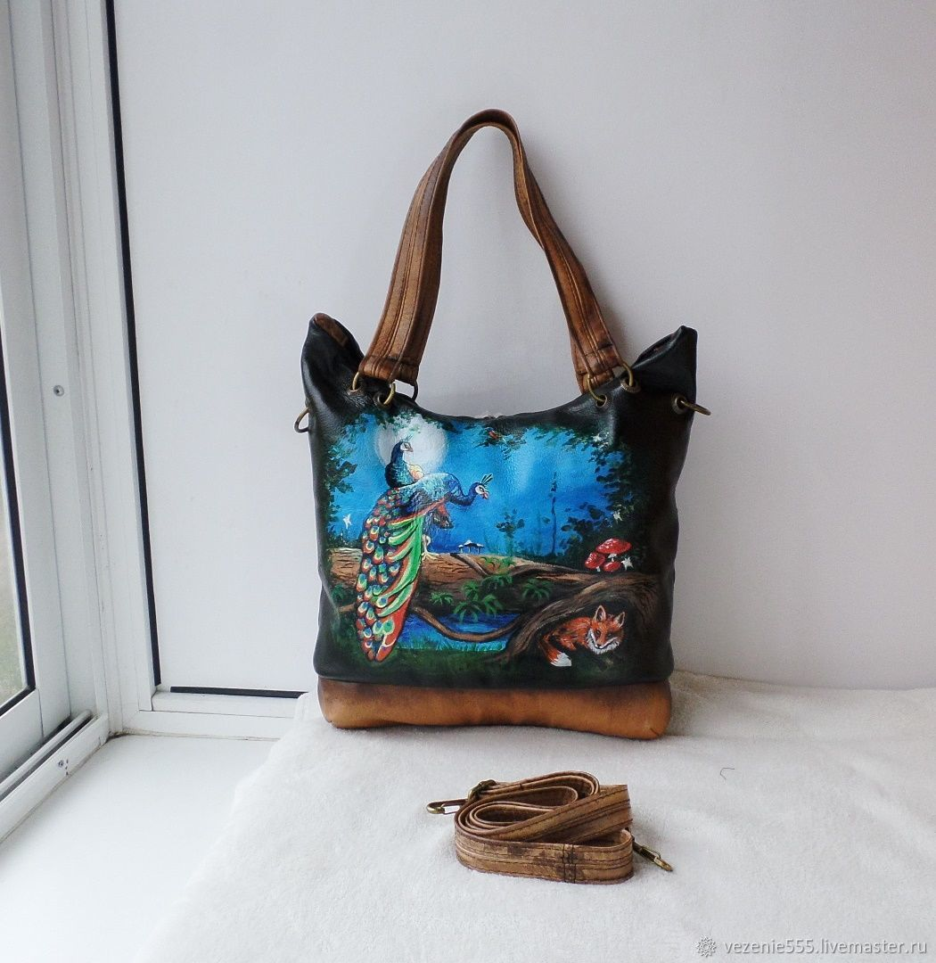Leather bag with painting to order for Lyudmila, Classic Bag, Noginsk,  Фото №1