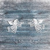 Подарки к праздникам handmade. Livemaster - original item Angels. Set of 2 Christmas angels. Lace. angel lace. Handmade.