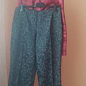 Винтаж ручной работы. Ярмарка Мастеров - ручная работа Брюки в пижамном стиле Женевьева 46-48. Handmade.