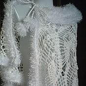"""Одежда ручной работы. Ярмарка Мастеров - ручная работа Накидка """"Снежный блеск"""". Handmade."""