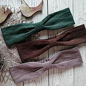 Аксессуары handmade. Livemaster - original item Linen hair band. Handmade.