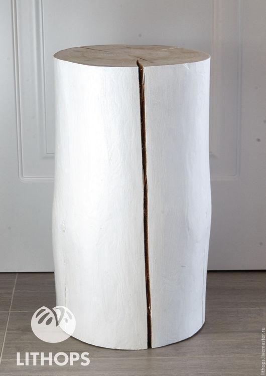 """Мебель ручной работы. Ярмарка Мастеров - ручная работа. Купить Пень """"Белый"""". Handmade. Белый, пенек, пуф, Мебель"""
