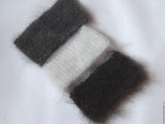 Повязки ручной работы. Ярмарка Мастеров - ручная работа. Купить полоски,повязки на голову- пуховые- вязанные.. Handmade. Комбинированный