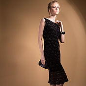Одежда ручной работы. Ярмарка Мастеров - ручная работа Вязаное крючком платье Морион. Handmade.