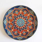 """Тарелки ручной работы. Ярмарка Мастеров - ручная работа """"Персидские мотивы"""". Интерьерная тарелка. Handmade."""