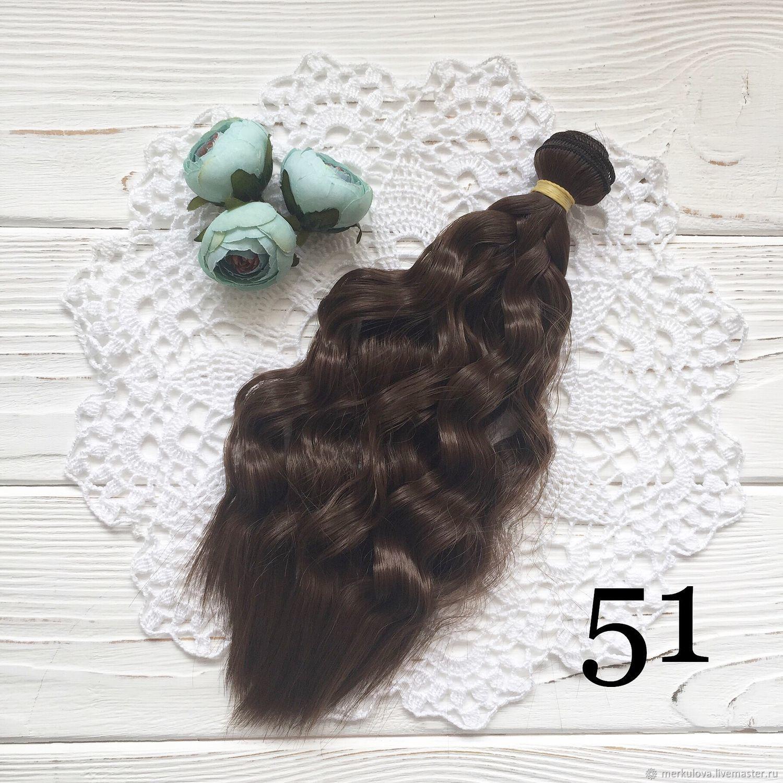Шитье ручной работы. Ярмарка Мастеров - ручная работа. Купить Волосы коса светло-каштановый №47 (25см). Handmade. Волосы