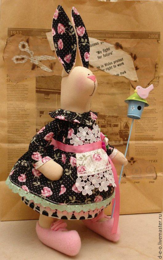 Куклы Тильды ручной работы. Ярмарка Мастеров - ручная работа. Купить Упитанная зайчиха. Handmade. Комбинированный, тильда, заяц игрушка