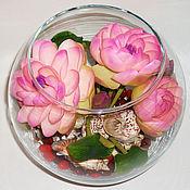 Цветы и флористика ручной работы. Ярмарка Мастеров - ручная работа Лотос - моя кеамическая флористика. Handmade.