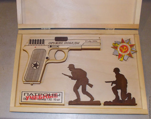 Оружие ручной работы. Ярмарка Мастеров - ручная работа. Купить Пистолет ТТ (пистолет стреляющий резинками). Handmade. Комбинированный