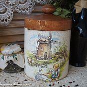 """Для дома и интерьера handmade. Livemaster - original item """"Голландия""""-Короб для сыпучих продуктов. Handmade."""
