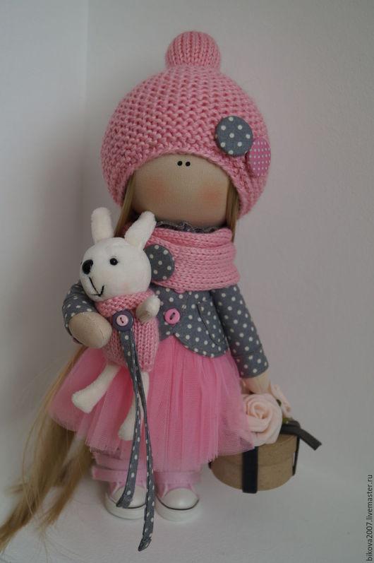 Куклы тыквоголовки ручной работы. Ярмарка Мастеров - ручная работа. Купить Неженка интерьерная куколка. Handmade. Розовый, кукла текстильная