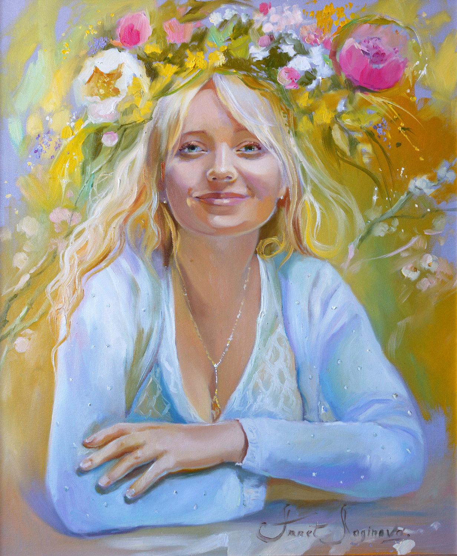 Портрет на заказ Алена, Картины, Москва,  Фото №1