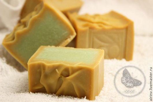 """Мыло ручной работы. Ярмарка Мастеров - ручная работа. Купить """"АЛЕППСКОЕ"""" натуральное мыло с нуля. Handmade. Зеленый, оливковое мыло"""