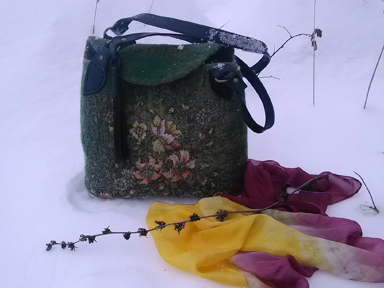 Как сделать валяную сумку