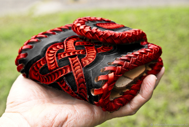 Leather wallet - demonic Celtic knot - colored, Wallets, Krasnodar,  Фото №1
