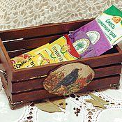 """Короб ручной работы. Ярмарка Мастеров - ручная работа Короб для специй """"Урожай"""". Handmade."""