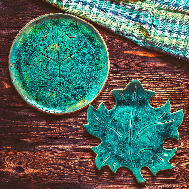 Тарелочки в форме листьев и блюда с отпечатками растений, Кухонные наборы, Нижний Новгород,  Фото №1