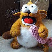 Куклы и игрушки ручной работы. Ярмарка Мастеров - ручная работа Валяная игрушка котик гаврошка. Handmade.
