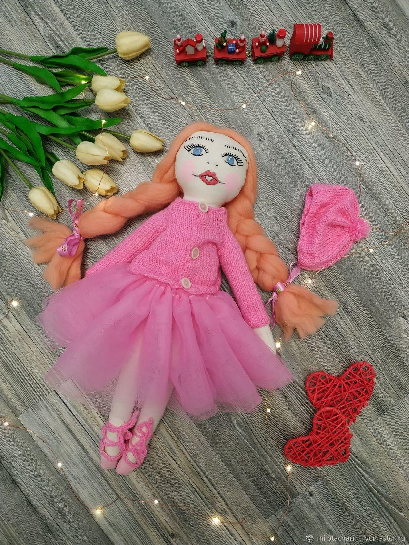 Текстильная кукла балерина. Textile doll, Тыквоголовка, Оренбург,  Фото №1