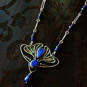 Украшения handmade. Livemaster - original item Necklace with sapphire. Handmade.