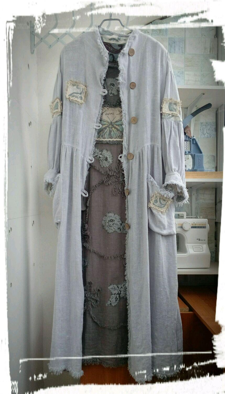 """Верхняя одежда ручной работы. Ярмарка Мастеров - ручная работа. Купить Летний льняной плащ """" Туманный Альбион"""". Handmade."""