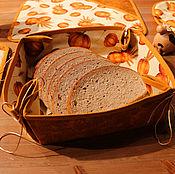 Для дома и интерьера ручной работы. Ярмарка Мастеров - ручная работа Корзинка для хлеба с тыквами. Handmade.