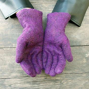 Аксессуары ручной работы. Ярмарка Мастеров - ручная работа Перчатки: Валяные перчатки. Handmade.