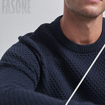 Clothing handmade. Livemaster - original item Jerseys: Blue sweater men