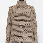 Одежда handmade. Livemaster - original item LARGE size! Cashmere 100% Sweater .English evening. Handmade.