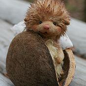 Куклы и игрушки ручной работы. Ярмарка Мастеров - ручная работа Ореховый ёжик. Handmade.