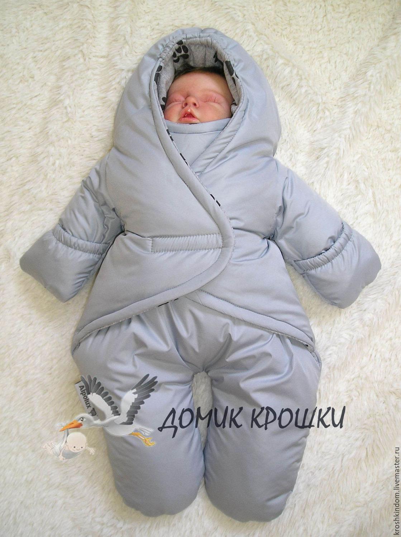 Зимний комбинезон на малыша своими руками