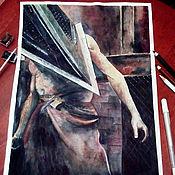 Картины и панно ручной работы. Ярмарка Мастеров - ручная работа пирамидоголовый. Handmade.