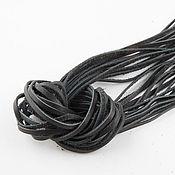 Материалы для творчества ручной работы. Ярмарка Мастеров - ручная работа Кожаный шнур (№14, ширина 3мм, толщ. 1,0-1,5мм). Handmade.