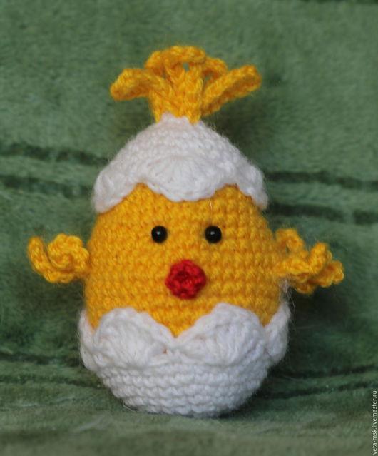 Подарки на Пасху ручной работы. Ярмарка Мастеров - ручная работа. Купить Пасхальный цыпленок. Handmade. Желтый, Пасха, Вязание крючком