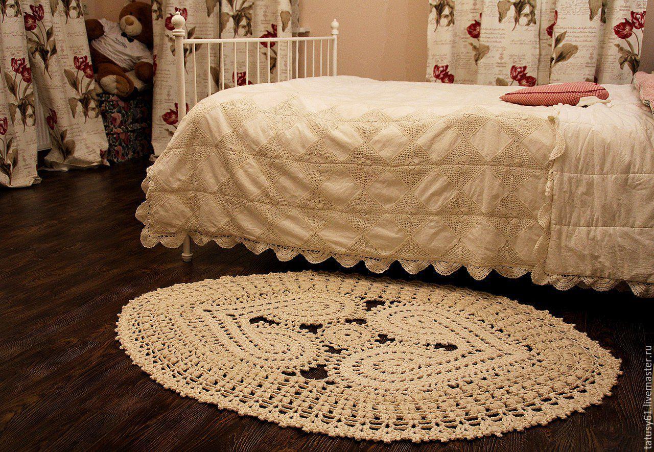 Вязание ковриков прикроватных