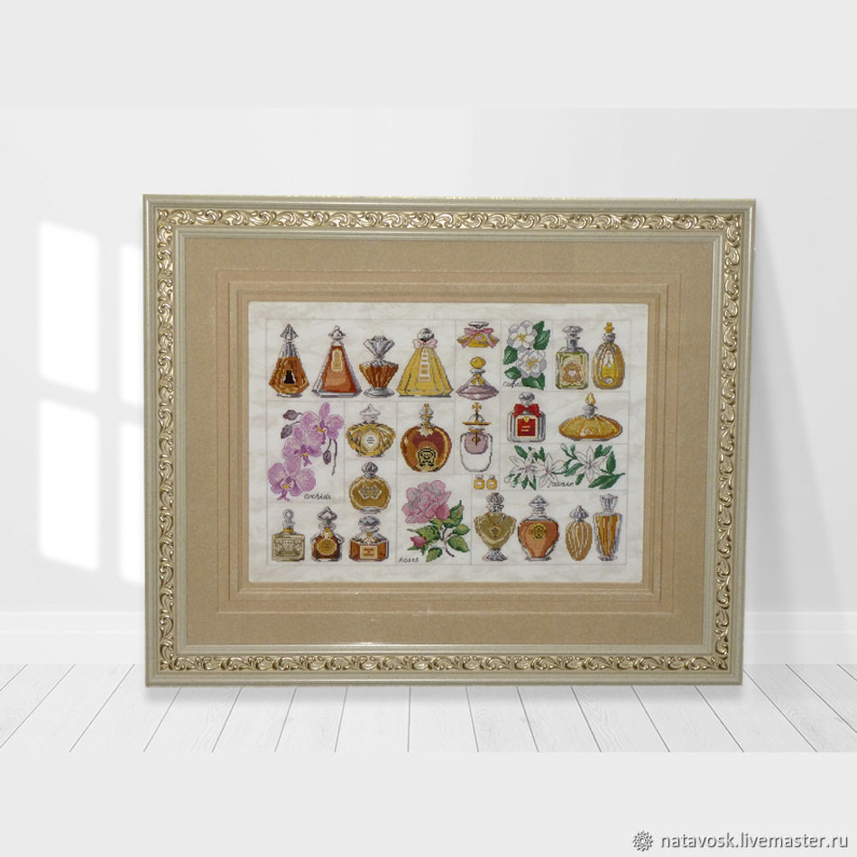 Cross stitch sampler Perfume, Pictures, Rostov-on-Don,  Фото №1