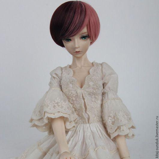 Куклы и игрушки ручной работы. Ярмарка Мастеров - ручная работа. Купить Парик для куклы Каре Биколор на головку 22-24 см. Handmade.