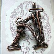 Украшения handmade. Livemaster - original item Wire wrapped pendant letter A, copper. Handmade.