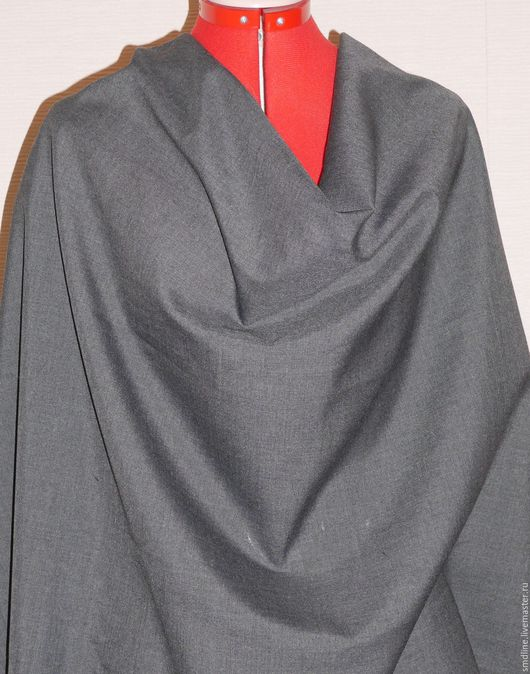 Шитье ручной работы. Ярмарка Мастеров - ручная работа. Купить Ткань костюмная арт.019. Handmade. Темно-серый, ткань