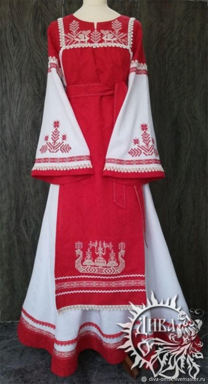 Dress Slavic 'Rosanna'-Swan', Dresses, Omsk,  Фото №1