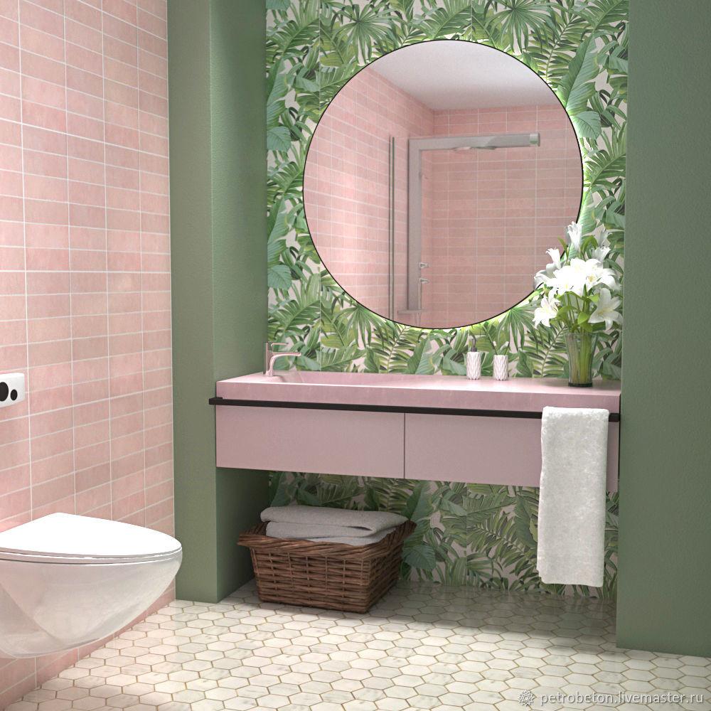 Комплект для ванной из бетона, Мебель для ванной, Челябинск,  Фото №1