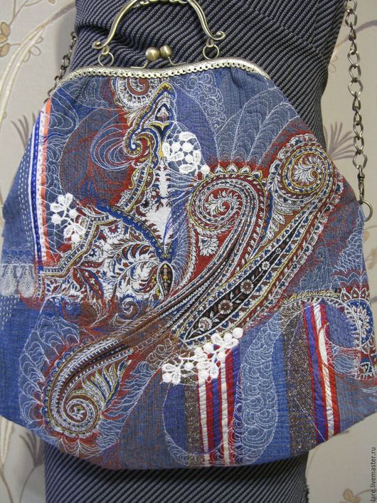 Женские сумки ручной работы. Ярмарка Мастеров - ручная работа. Купить Сумка -Три классики. Handmade. Комбинированный, Джинсовая ткань