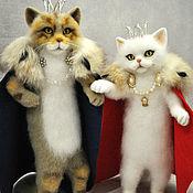 Куклы и игрушки ручной работы. Ярмарка Мастеров - ручная работа Коты царь и царица. Handmade.