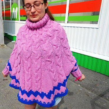 Одежда ручной работы. Ярмарка Мастеров - ручная работа Модное теплое пончо. Handmade.