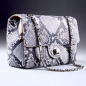 Сумки и аксессуары handmade. Livemaster - original item Python leather handbag, inner filling - IMP0020Z1 leather. Handmade.