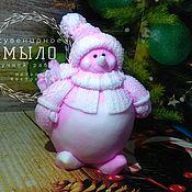 Мыло ручной работы. Ярмарка Мастеров - ручная работа Мыло снеговик, ручной работы. Handmade.